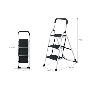 SM-TT6023A Household Movable Three Stair Steel Ladder Stable Master