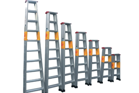 What are the main materials used in making ladders?
